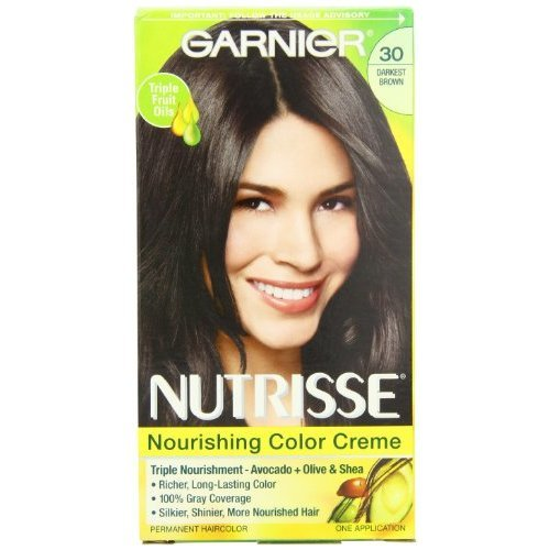 Garnier Nutrisse Permanent Haircolor 30 Darkest Brown Sweet Cola