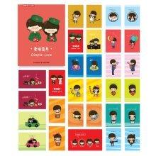 30PCS 1 Set Creative Postcards Artistic Beautiful Postcards, Metal Case Simple Love