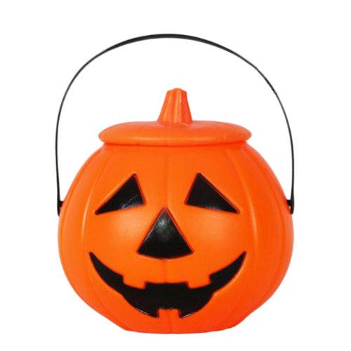 2PCS Trick Or Treat Pumpkin Halloween Party Decor Children Prop Candy Storage-A4