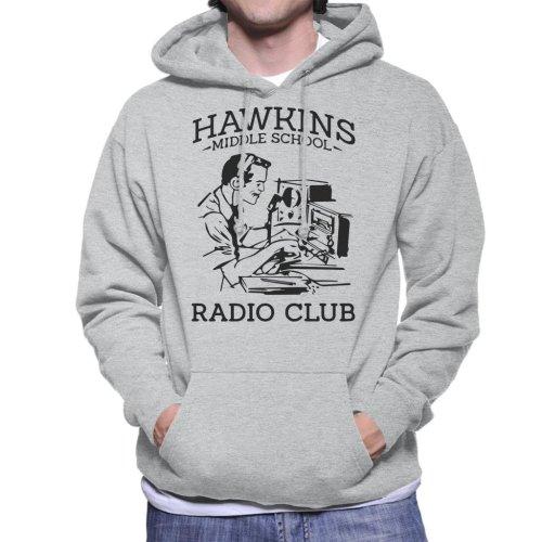 Hawkins Middle School Radio Club Men's Hooded Sweatshirt