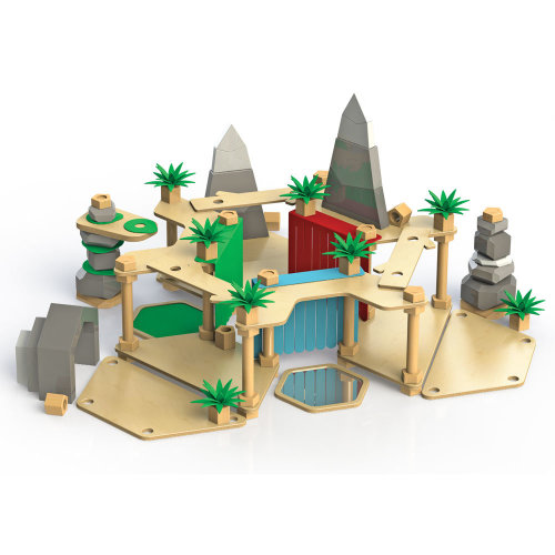 Tidlo Wooden Make-A-Land Construction Play Set