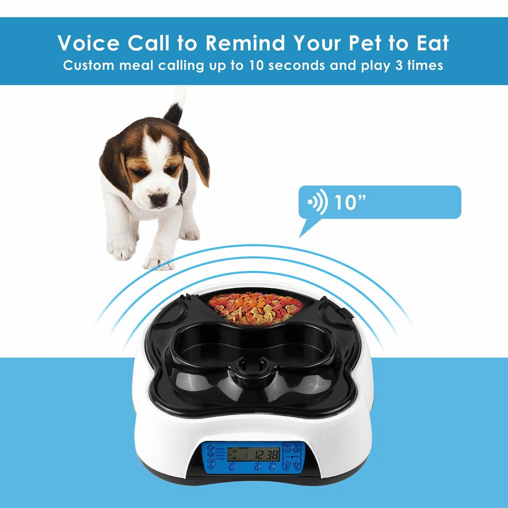 d12084753948 Pedy Pet Automatic Food Water Dispenser, 4 Meal Auto Timed Drinking and  Feeding Station For Dog, Cat and Pet