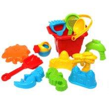 Random Color Children's Seaside Toys 13 Pieces Beach Toys Set Kids' Sand Toys