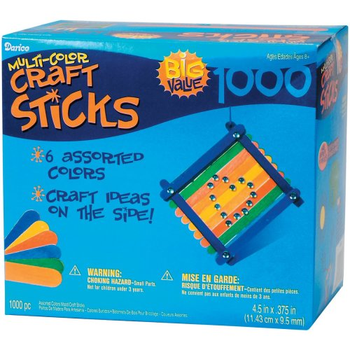 "Jumbo Craft Sticks-Colored 4.5"" 1,000/Pkg"