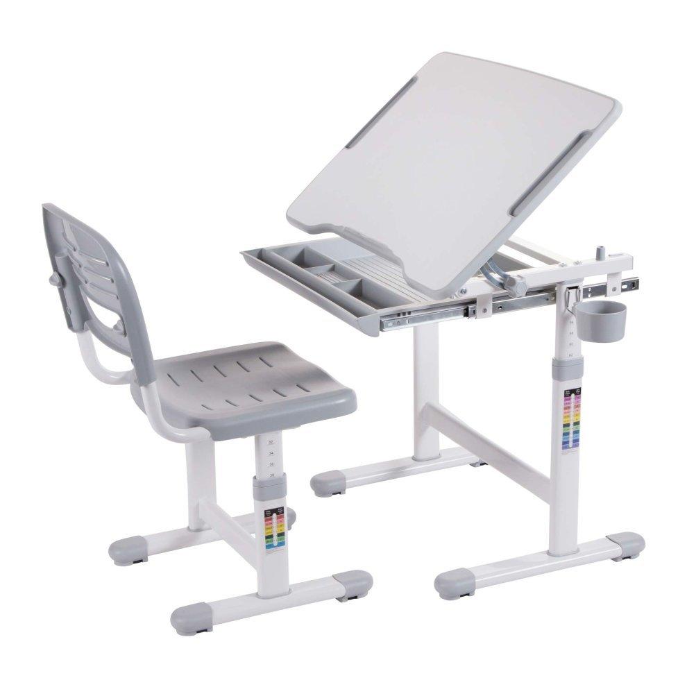 Ergonomic Kids Desk Chair Height Adjule Children Table Mini Grey 8
