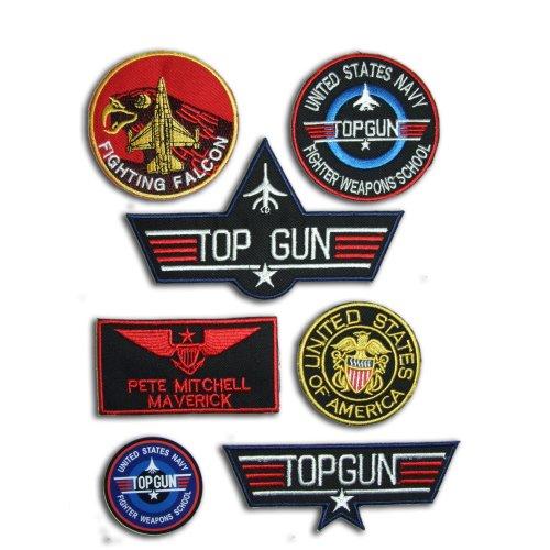 "TOP GUN ""MAVERICK"" FANCY DRESS Patches (6 patches + 1 Sticker)"