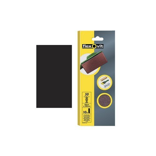 Flexovit 63642526326 1/2 Sanding Sheets Orbital 115 x 280mm Plain Coarse 50g Pack of 10