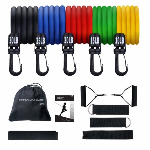 Exercise Resistance Bands Set, [Total 100 lbs] TOPELEK Fitness Resistance Bands Set Best for Women Men with 5 Fitness Tubes/Handles/Door...