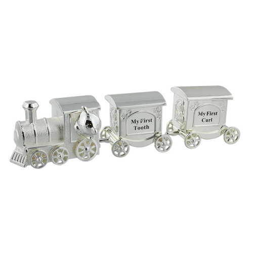 Silver Plated Train Carriage Tooth & Curl Set
