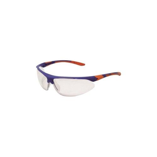 Stealth 9000 Glasses - Blue/Orange Frame - Clear Anti-Fog Lens