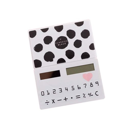 Creative Mini Solar Card Calculator Child Count Toy/Office Supplies,B7