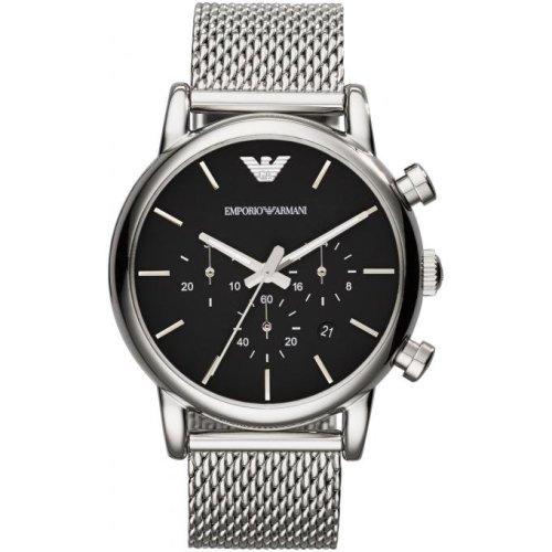 Emporio Armani AR1811 Watch Silver Black Man