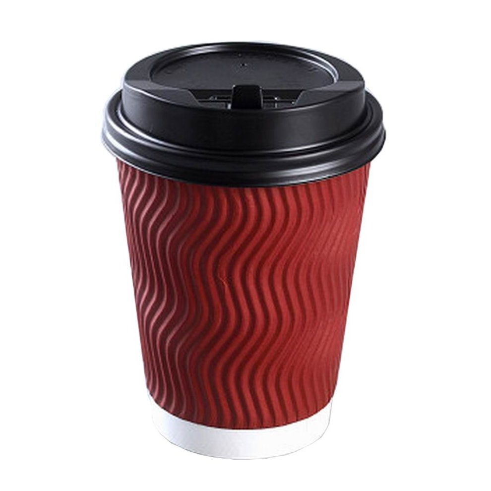 set of 50 disposable coffee cups with lids disposable paper cup red