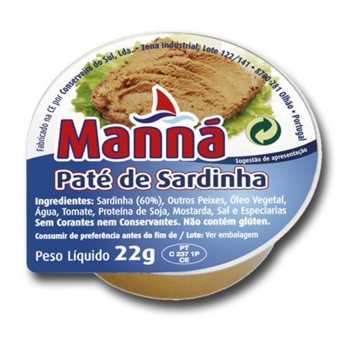 24pc Manna Portuguese Sardine Pate Cans - 22g | Canned Sardine Spread Multipack