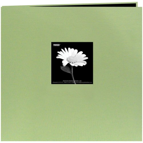 "Pioneer Book Cloth Cover Post Bound Album 8""X8""-Sage Green"