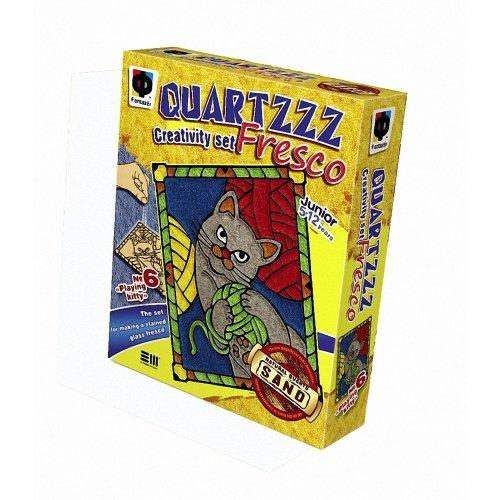 Elf408006 - Fantazer - Quartz Fresco Sand Picture - Playing Kitty