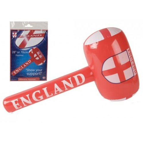 """28"""" Inflatable Football Basher Mallet - England 28 Party Supplies Decorations -  england football 28 party supplies decorations flags balloons rugby"""