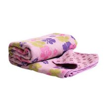 Light Purple Clover Style Printing Yoga Sweat Mat Towel Non-slip Yoga Shop Towel