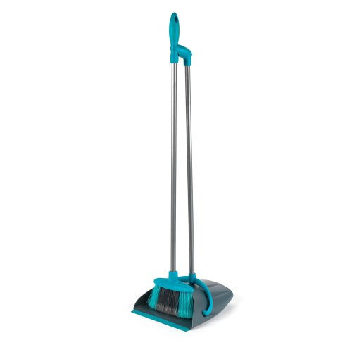 Beldray LA030139TQ Dustpan and Broom Cleaning Set, Turquoise