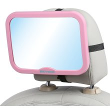 Large Pink Baby Car Mirror to See Your Child in Your Rear View Mirror
