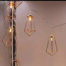 Iron LED Lantern String Lights Christmas