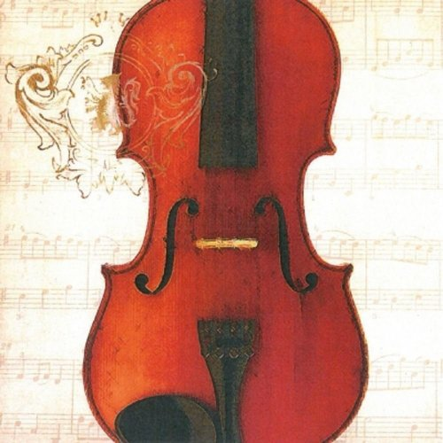 4 x Paper Napkins - Concerto Violin  - Ideal for Decoupage / Napkin Art