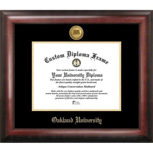Oakland  University Gold Embossed Diploma Frame