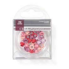 Assorted Red 5mm Eyelets By Artoz