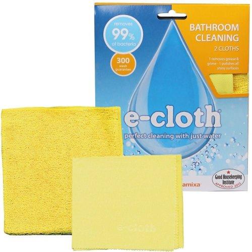 e-Cloth Bathroom Pack Streak-Free Cleaning + Glass & Polishing Cloth No Chemical