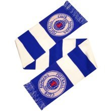 Blue & White Rangers Bar Scarf - Official Football New Licensed Fan Gift Team -  official football bar scarf new licensed rangers fan gift team