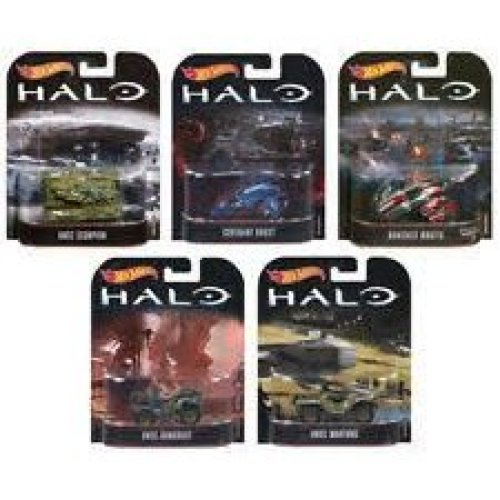 SET of 5 Models HALO Inspired in Scale 1/64 DieCast Hot Wheels