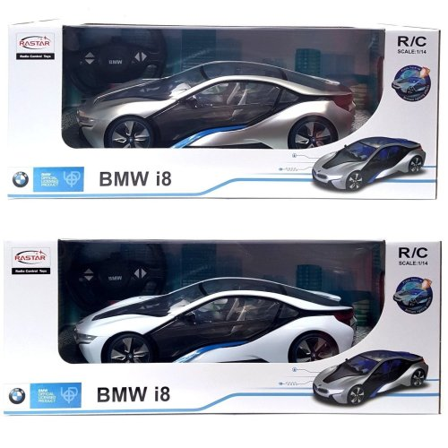 BMW i8 Radio Control Car with Lights - 1/14 Scale - BMW Official Licensed - Toy