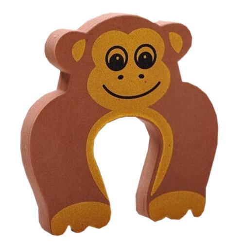 """Set of 5 Lovely Monkey Elasticity Door Stop Children Cartoon Door Holder 4*0.5"""""""