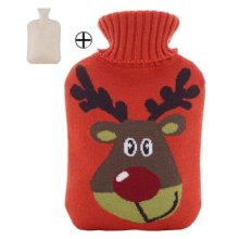 Cute and Comfortable Plush Warm Water Bag, Portable, 750ML [A]