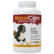 MaxxiCalm Calming Aid for Dogs with Canine Behaviour Training Guide - Stress and Anxiety Relief - Supports Balanced Behaviour - Non-Drowsy 120 Tablets