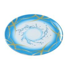 Set of 2 High-class Elegant Placemats Saucers Fruits Candies Dishes,Blue
