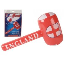 "28"" Inflatable Football Basher Mallet - England 28 Party Supplies Decorations -  england football 28 party supplies decorations flags balloons rugby"
