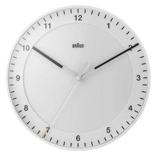 "Braun ""BNC017WHWH-NRC"" Classic Wall Clock, White"