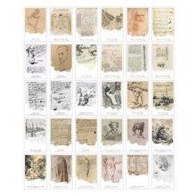 30PCS 1 Set Creative Postcards Artistic Beautiful Postcards, Start Track