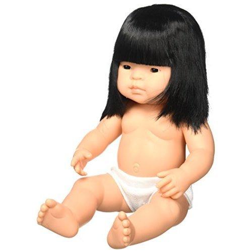 Miniland 15 Anatomically Correct Baby Doll, Asian Girl