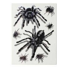 Set of 8 Halloween Scared Tattoo Stickers, Disposable and Waterproof [O]
