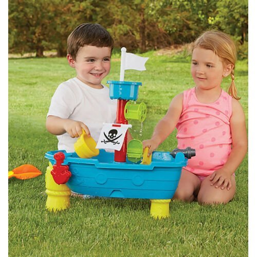Large Pirate Ship Sand and Water Table, 24 Piece