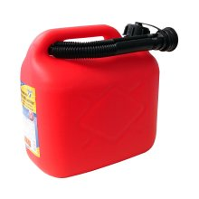 Cartrend 2910164 Fuel can 5 liters, PVC red, UN certification - Red/black