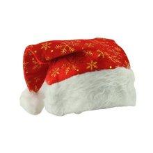 Set of 3 Christmas Hat Santa Hat for Christmas Decoration, Golden Snowflake