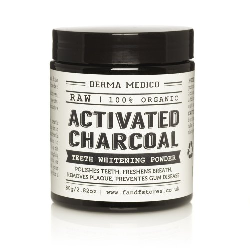 Derma Medico Activated Charcoal Teeth Whitening Powder Raw Coconut Shell