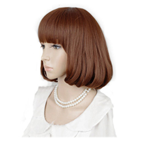High Quality Fashion Sweet Lady Wig Short Hair Natural Bob Orange +Wig Cap+Comb