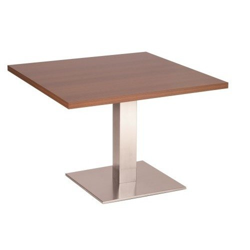 Daniella Coffee Table Stainless Steel Base with Various Size and Colour Tops White Square 500 Square