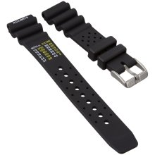 ZULUDIVER Diver's Watch Strap, NDL Type for Citizen, Black, 20mm