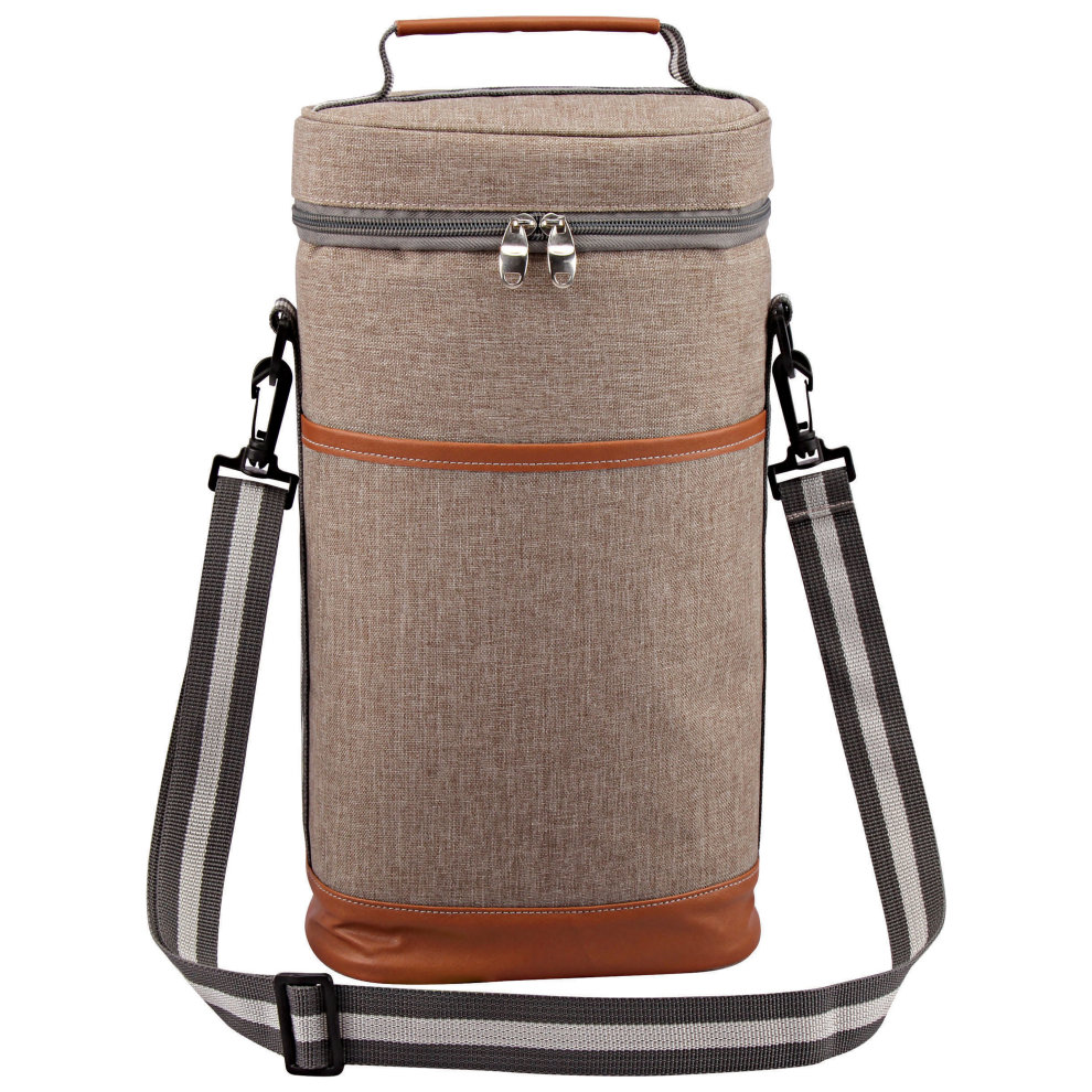 f652f5871c61 GEEZY Insulated Padded Wine Bottle Cooler Bag with Bottle Opener