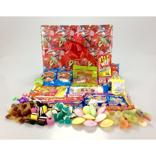 Marvel Avengers Super Heros Sweet Hamper Gift Box Large Retro Mix - Great for ALL ages His or Hers - Unique Gift Valentine's Day, Good Luck,...
